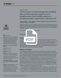 Clinical impact of pharmacogenetic profiling with a clinical decision support tool